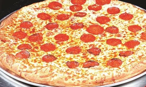 Product image for Arthur Jaxon Slice & Scoop $23.99 large cheese pizza & 10 wings additional toppings extra.