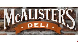 Mcalister's Deli - Bloomingdale logo