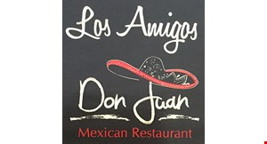 Product image for Los Amigos Don Juan Mexican Restaurants 20% Off total food check