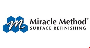 Product image for Miracle Method Surface Refinishing $150 OFF complete countertop refinished job (30 sq. ft. min). One coupon per project. Cannot be combined with any other offers.