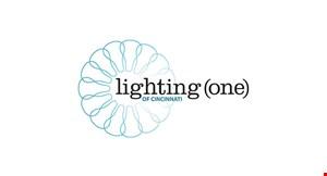 Product image for Lighting (One) of Cincinatti $50 off any purchase of $300 or more $100 off any purchase of $500 or more $10 off any purchaseof $100 or more.