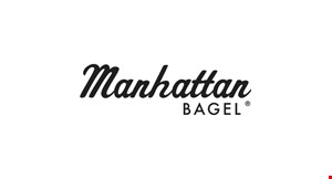 Product image for Manhattan Bagel FREE 16 oz. cup of coffee.