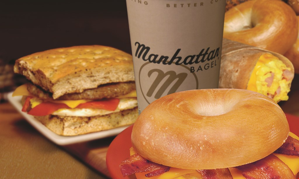Product image for Manhattan Bagel - West Orange FREE 16 oz. cup of coffee.