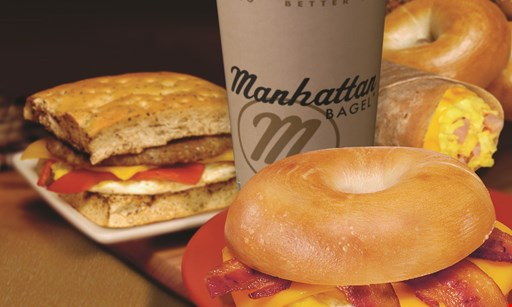 Product image for Manhattan Bagel - Summit FREE 16 oz. cup of coffeewith purchase.