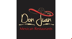 Product image for Don Juan Mexican Grill Maumee 1/2 Off lunch entree buy one lunch at regular price, get second lunch of equal or lesser value 1/2 off.