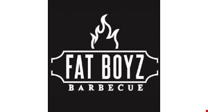 Product image for Fat Boyz Barbecue $5 OFF any purchase of $25 or more.