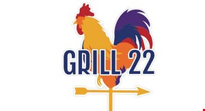 Product image for Grill 22 $10 OFF any purchase of $30 or more.