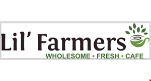 Product image for Lil' Farmers Cafe $5 OFF any purchase of $25 or more OR $2 OFF any purchase of $10 or more.