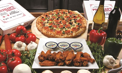 Product image for Pontillo's Pizzeria $25.99!32-piece sheet cheese pizza & 1 FREE topping.