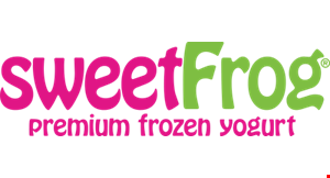 Product image for Sweet Frog $1 Off any yogurt purchase of $5 or more