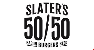 Slater's 50/50 - Burgers By Design logo