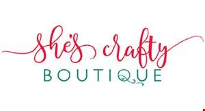She's Crafty Boutique logo