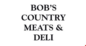 Bob's Country Meats & Deli logo