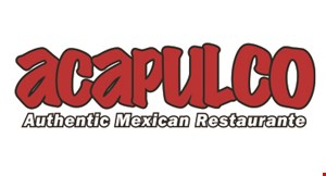 Product image for Acapulco Authentic Mexican Restaurante BOGO 1/2 off Buy One Dinner Entrée at Regular Price, Get Second Dinner Entrée at 1/2 off with the purchase of 2 beverages. Excludes: tax, tips & beverages. Maximum discount of $5.00