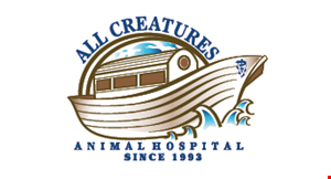 Product image for All Creatures Animal Hospital $10 Off your next exam