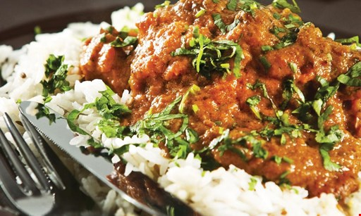Product image for Indian Bistro 50% Off Buy 1 entree at the reg. price & get a 2nd entree of equal or lesser value at 50% off.