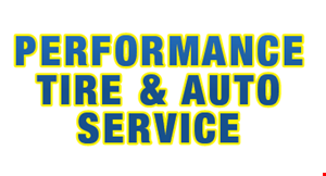 Product image for Performance Tire & Auto Service $15.00 Tire Rotation with any oil change