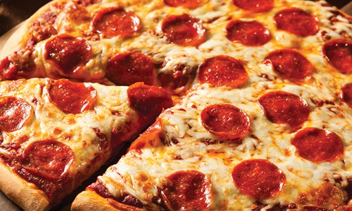 "Product image for Toppings Pizza Co. $22.99 FAMILY DEAL: 2 16"" cheese pizzas, 10 wings & 2-liter soda."