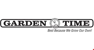 Product image for Garden  Time Nursery $20 off a purchase of $100 or more.