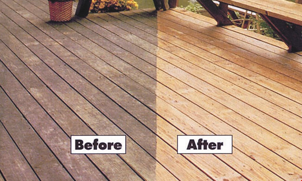 Product image for Deckworks $50 off deckcleaning.