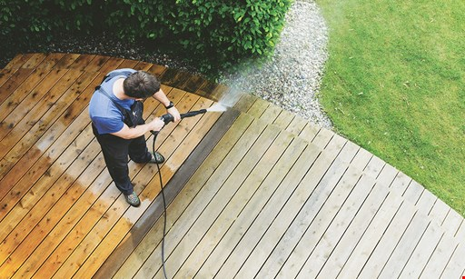 Product image for Deck Dudes $199 driveway pressure washing up to 800 sq ft of driveway.
