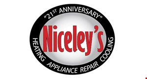Product image for Niceley's Appliance Repair In-Store Parts Savings $5 off $25, $10 off $50, $20 off $100.