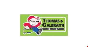 Product image for Thomas & Galbraith $100 off any HVAC repair.