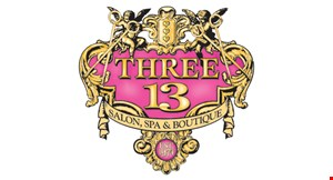 Product image for Three-13 Salon $25 Gift certificate toward a design haircut & finish.