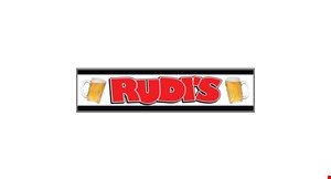 Product image for Rudi's Bar & Grill $6 burger & beer lunch special pickup only