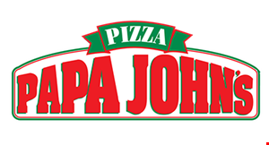 Product image for Papa John's $6.99each2 medium1 topping pizzas.