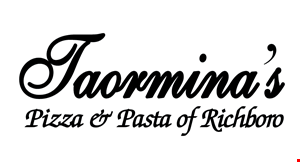 Product image for Taormina's Pizza & Pasta $2 Off any large or sicilian pizza