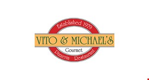 Product image for Vito & Michae's $5 Off Any purchase of $30 or more.