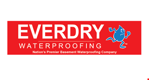 Product image for Everdry Waterproofing FREE inspection & estimate plus $700 off all jobs over 100 linear feet. No mess. No backhoes.