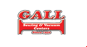 GALL SEWING & VACUUM CENTERS logo