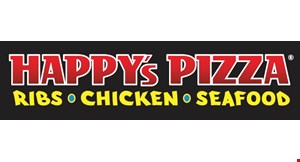 Product image for Happy's Pizza $16.99 Pizza plus bread.