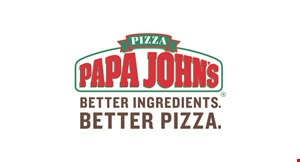 Product image for Papa John's Pizza only $15.99 1 Large 3-Topping Pizza & An Order Of 6 Bread Stix Or 6 Garlic Parmesan Bread Stix.