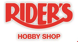 Product image for Rider's Hobby Shop $5 OFF $25 Purchase.