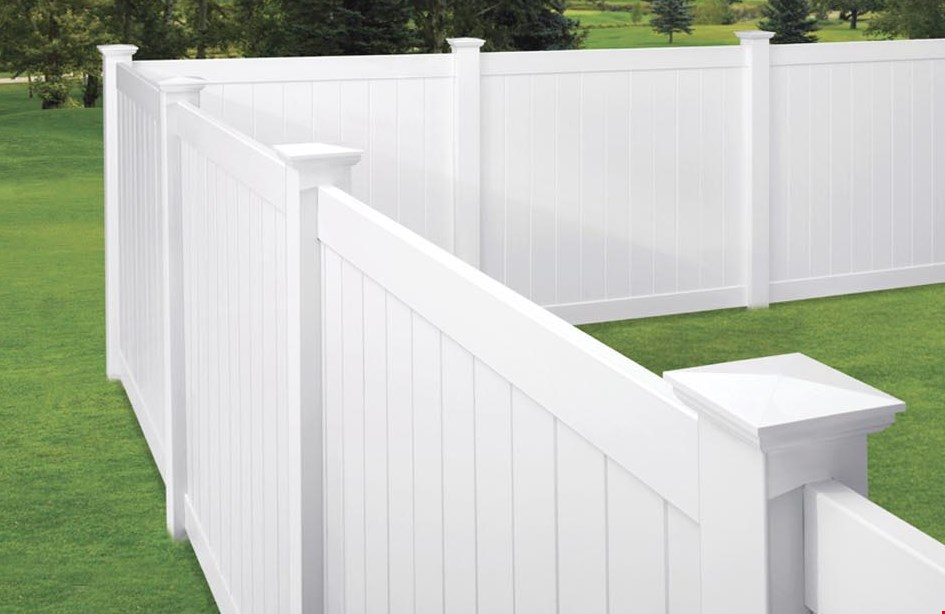 Product image for FenceMax Up to 20% off vinyl, aluminum, wood, and chain-link fence. Select styles only. Min. purchase required. 5%-20% off based on volume of sale.