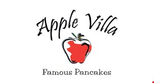 Product image for APPLE VILLA FREE apple pancake buy one frozen apple pancake, get one FREE! 16 oz. or 32 oz.$11 value.