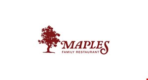 Product image for Maples Family Restaurant $2 off any takeout purchase