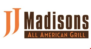Product image for JJ Madisons Take out special: 10% off any order. Also get 1 bottle of beer for 89¢ or Coke® for 29¢