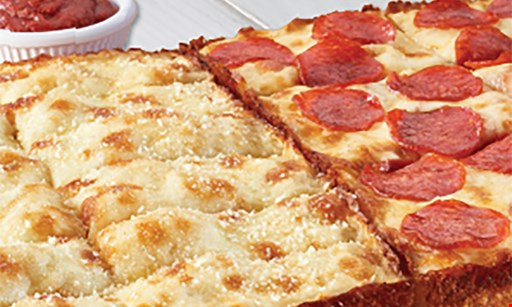 Product image for Jet's Pizza Mix n match choose any 2 or more $6.49 Each. Choose from: small 1 topping detroit-style pizzas, medium 1 topping hand-tossed round pizzas, your choice Of bread with dipping sauce, classic subs, or small salad.