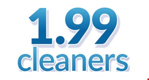 Product image for $1.99 Cleaners $15 For $30 Worth Of Dry Cleaning
