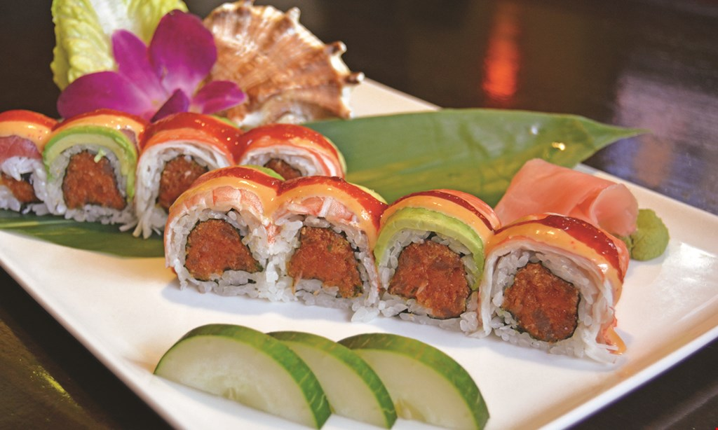 Product image for Miyako Japanese Sushi & Steakhouse $41.95 salmon/shrimp for 2 meals. Dine in only - dinner only.