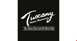 Product image for Tuscany Italian Restaurant $15 For $30 Worth Of Fine Italian Dining