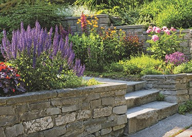 Product image for The Retaining Wall Guys FREE 24 x 24 limestone cap with any pillar over 3 ft..