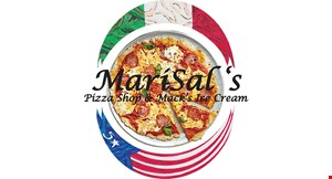 Product image for Marisal's Pizza Shop & Mack's Ice Cream $10 Off any purchase of $50 or more.