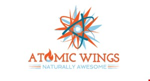 Product image for Atomic Wings $9.99 5 Sliders with fries combo.