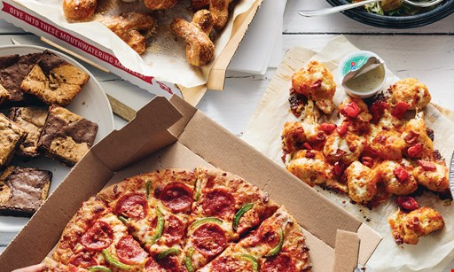 Product image for Dominos Carry Out Special - 10 wings or 3-topping pizzas. Any size pizza, any crust, no limit! •  $7.99 each + tax
