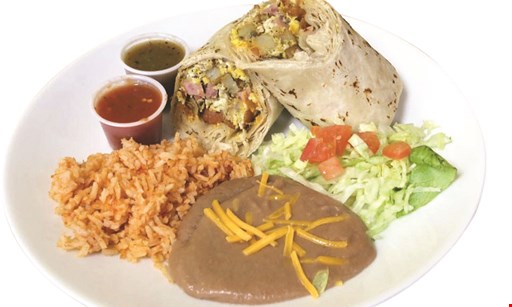 Product image for Burrito Express $2.99 Breakfast Burrito -OR- Free Menu Item